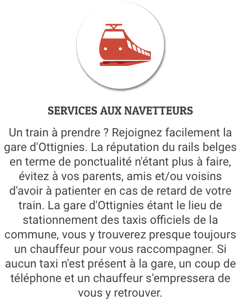 transfert des navetteurs à Chaumont-Gistoux