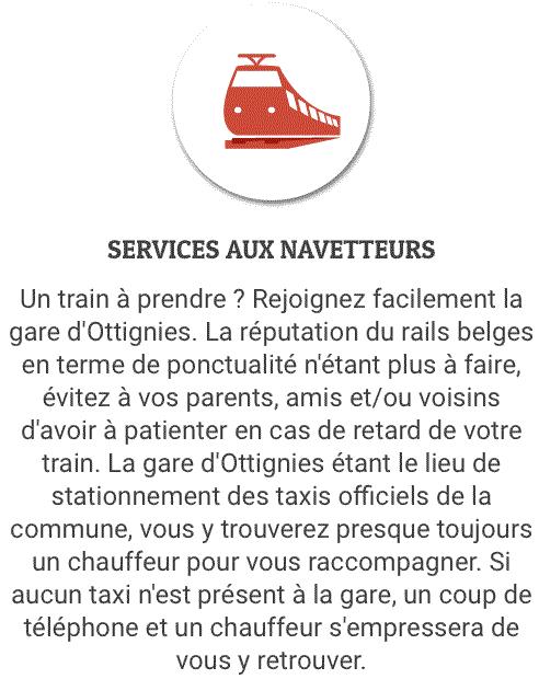 Services aux navetteurs à Mont-Saint-Guibert